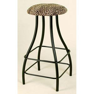 Contemporary Cheetah Backless Swivel Barstool